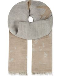 McQ by Alexander McQueen Swallow Silhouette Wool-blend Scarf - Lyst