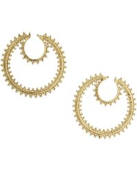 BCBGMAXAZRIA Boho Hoop Earrings - Lyst