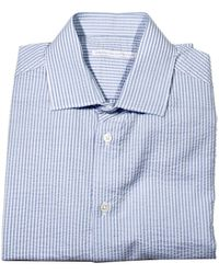 Ermanno Scervino Shirt Cfrancese Taglio Vivo Seersucker Striped - Lyst