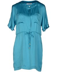 Pierre Balmain Short Dress blue - Lyst