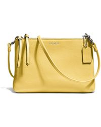 Coach Bleecker Triple Zip Crossbody in Pebbled Leather - Lyst