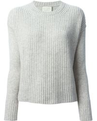 Forte Forte Ribbed Front Sweater - Lyst
