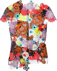 Christopher Kane Guipure Lace Top - Lyst