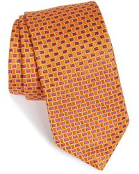 Ted Baker Geometric Woven Silk Tie pink - Lyst