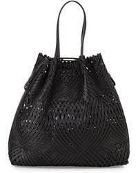 Nina Ricci Pamina Woven-leather Tote - Lyst