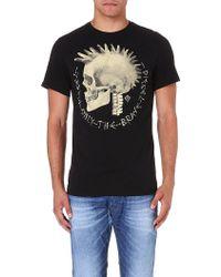 Diesel T-feddo Cotton-jersey T-shirt Black - Lyst