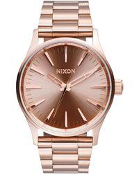 Nixon - A450-897 Women's Sentry 38 Ss Bracelet Strap Watch - Lyst