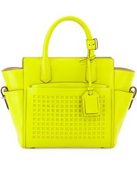 Reed Krakoff - Atlantique Mini Perforated Tote Bag - Lyst