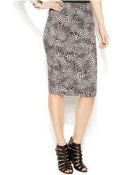 Vince Camuto Leopard-print Pencil Skirt - Lyst
