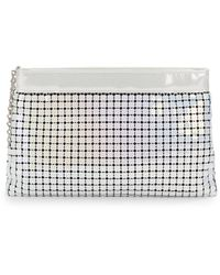 Sondra Roberts Mirrored Sequin Clutch - Lyst