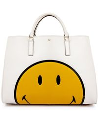 Anya Hindmarch Smiley Maxi Featherweight Ebury Tote - Lyst