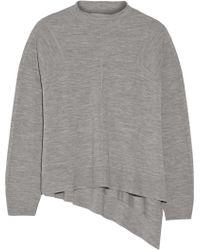 Alexander Wang Marled Wool-Jersey Sweater - Lyst