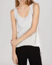 Karen Millen Top - Knit Collection Side Inset gray - Lyst