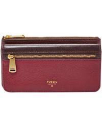 Fossil - Preston Flap Leather Purse - Lyst