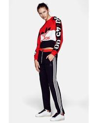 Topshop For Adidas Originals Color-Blocked Logo Sweatshirt - Lyst