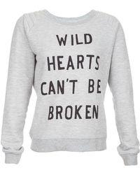Zoe Karssen Wild Heart Quilted Shoulder Sweatshirt - Lyst