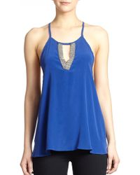 Ramy Brook Lily Chain Silk Top - Lyst