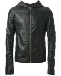 Rick Owens Hooded Lambskin Jacket - Lyst