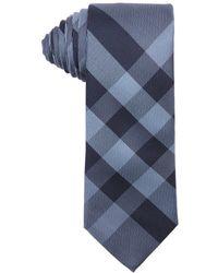 Burberry Slate Blue And Navy Nova Check Silk Tie blue - Lyst