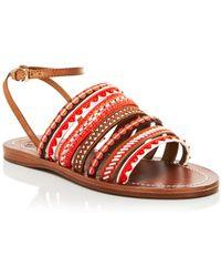 Tory Burch Flat Sandals - Mixed Trims - Lyst