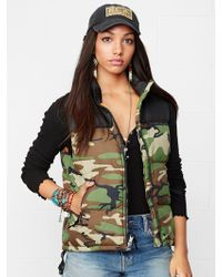 Denim & Supply Ralph Lauren Multicolor Down Vest - Lyst