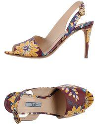 Prada Multicolor Sandals - Lyst