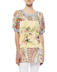Johnny Was   Mistic Paneled & Printed Tunic   Lyst