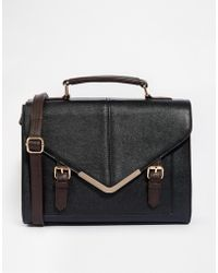 ASOS - Large V Bar Satchel Bag - Lyst