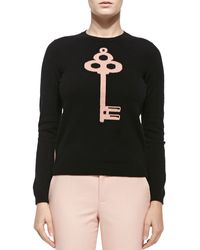 RED Valentino Cashmere Colorblocked Lock  Key Sweater - Lyst