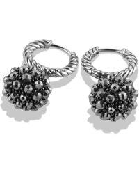 David Yurman Osetra Earrings With Hematine silver - Lyst