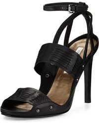 Cynthia Vincent - Jigsaw Woven Leather Sandal - Lyst