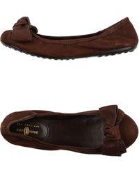 Car Shoe Ballet Flats - Lyst