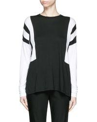 Vince | Optic Stripe Drop Shoulder T-shirt | Lyst