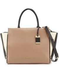 Christian Lacroix Avery Colorblock Leather Satchel Bag