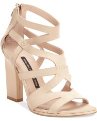 French Connection Beige Isla Sandals - Lyst
