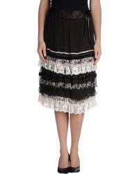 Rene' Derhy 3/4 Length Skirt - Lyst