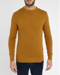 Selected | Camel Conner Round-neck Sweater | Lyst