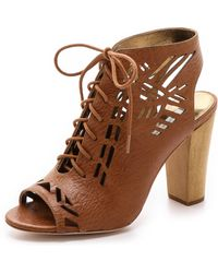 Twelfth Street by Cynthia Vincent Sivan Lace Up Booties - Lyst