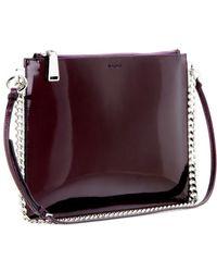 Jil Sander Patent-leather Shoulder Bag - Lyst
