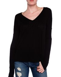 Rag & Bone Theo Long Sleeve V Neck Tee - Lyst