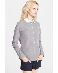 Band of Outsiders Contrast Collar Easy Shirt - Lyst