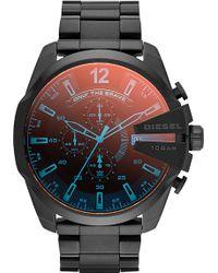 Diesel Mega Chief Chronograph Watch Dz4318 - For Men black - Lyst