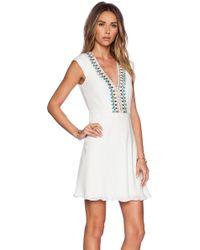 Haute Hippie Embellished Deep V Dress - Lyst