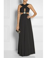 Christopher Kane Cutout Crepe Gown - Lyst