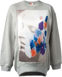 MSGM Photographic Print Sweatshirt - Lyst