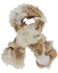 Barneys New York Brown Fur Scarf - Lyst