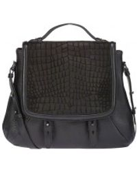 Mackage - Carrie-f4 Black Leather Satchel Handbag - Lyst