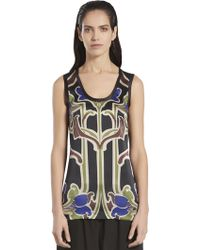 Gucci Art Nouveau Flower Print Sleeveless Top - Lyst