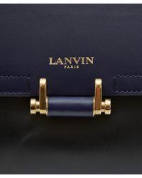 Lanvin - Black Jeanne Bicolour Leather Bag - Lyst