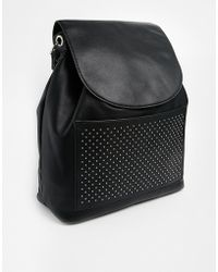 Asos Backpack with Pinstud Pocket - Lyst